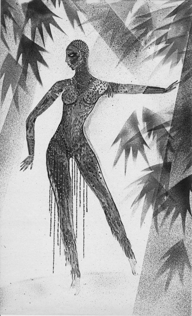 Designer's concept drawing for an Alvin Ailey dance