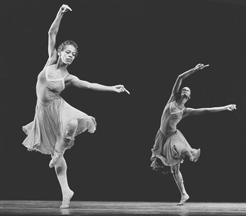 """Two Dancers performing """"Night Creature"""""""