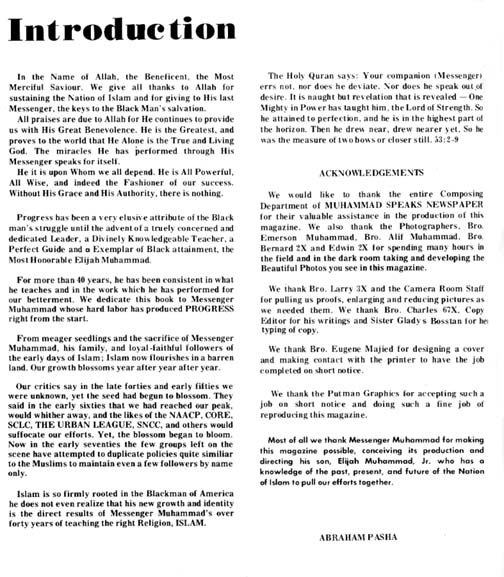 Informational Document about Nation of Islam page 1 of 4