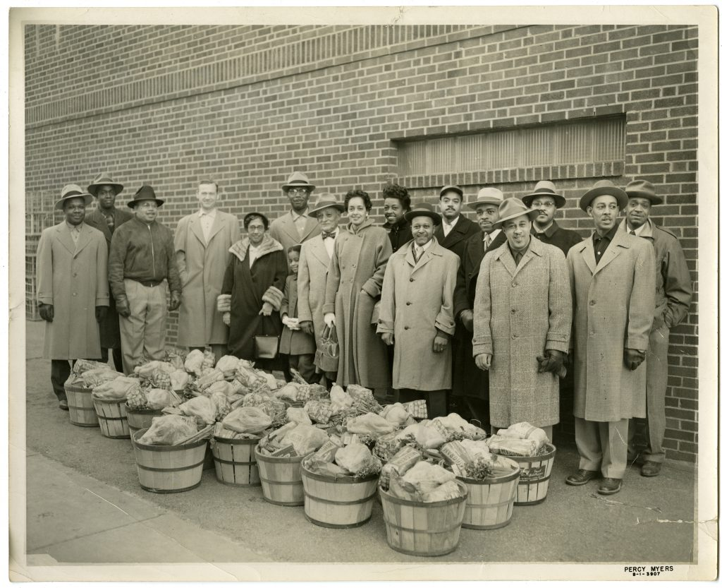 Group Preparing to Deliver Food