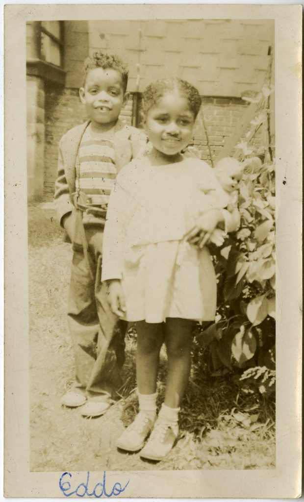 Willetta Anthony with an Unidentified Boy