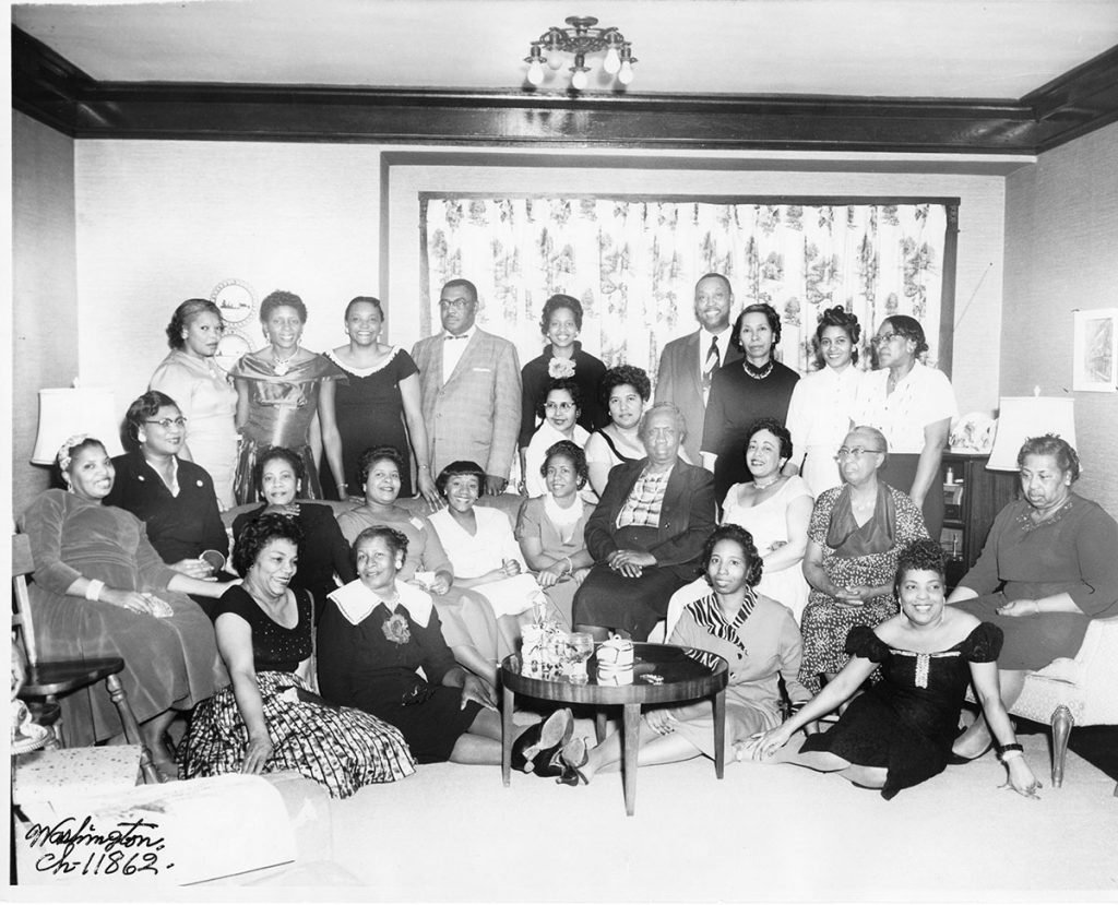 Group photograph at member's home